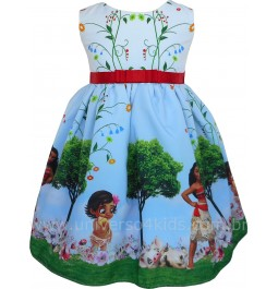 Vestido de Festa Infantil Moana Baby