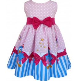 Vestido Infantil Galinha Pintadinha Rosa