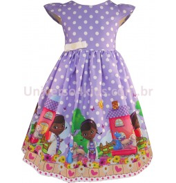 Vestido de Festa Infantil Doutora Brinquedos
