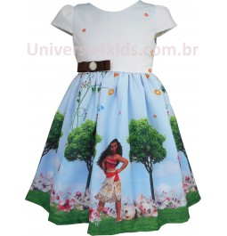 Vestido Infantil Princesa Moana