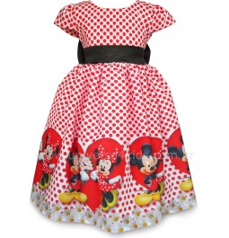 Vestido Minnie Vermelha Luxo
