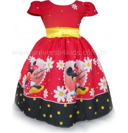 Vestido da Minnie Vermelha para Festa Infantil