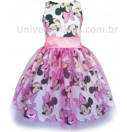 Vestido para Festa Minnie Rosa