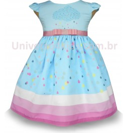 Vestido Infantil Chuva de Bençãos