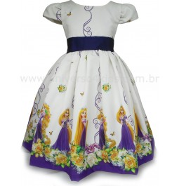Vestido Rapunzel Infantil Luxo