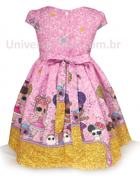 Vestido Infantil da Lol Surprise costas