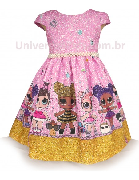 Vestido Infantil da Lol Surprise