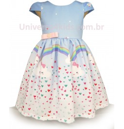Vestido Infantil Nuvem de Amor