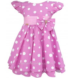 Vestido Infantil Minnie